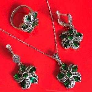 925 Sterling Silver Antiqued Jewelry Sets